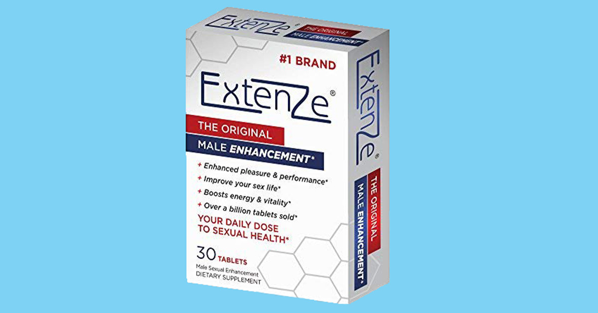 Extenze Male Enhancement Pills box includes