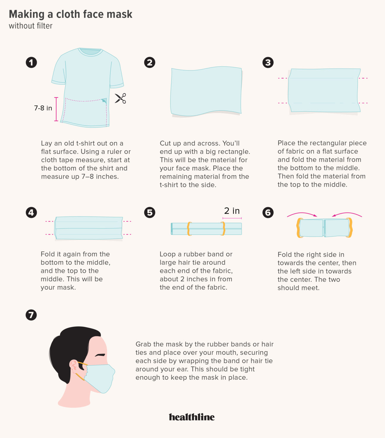 How To Make A Mask Out Of Fabric Diy Face Mask Instructions