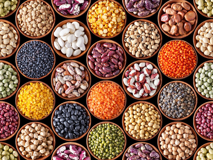 Image shows different types of consumable legumes for boosting your immune system.