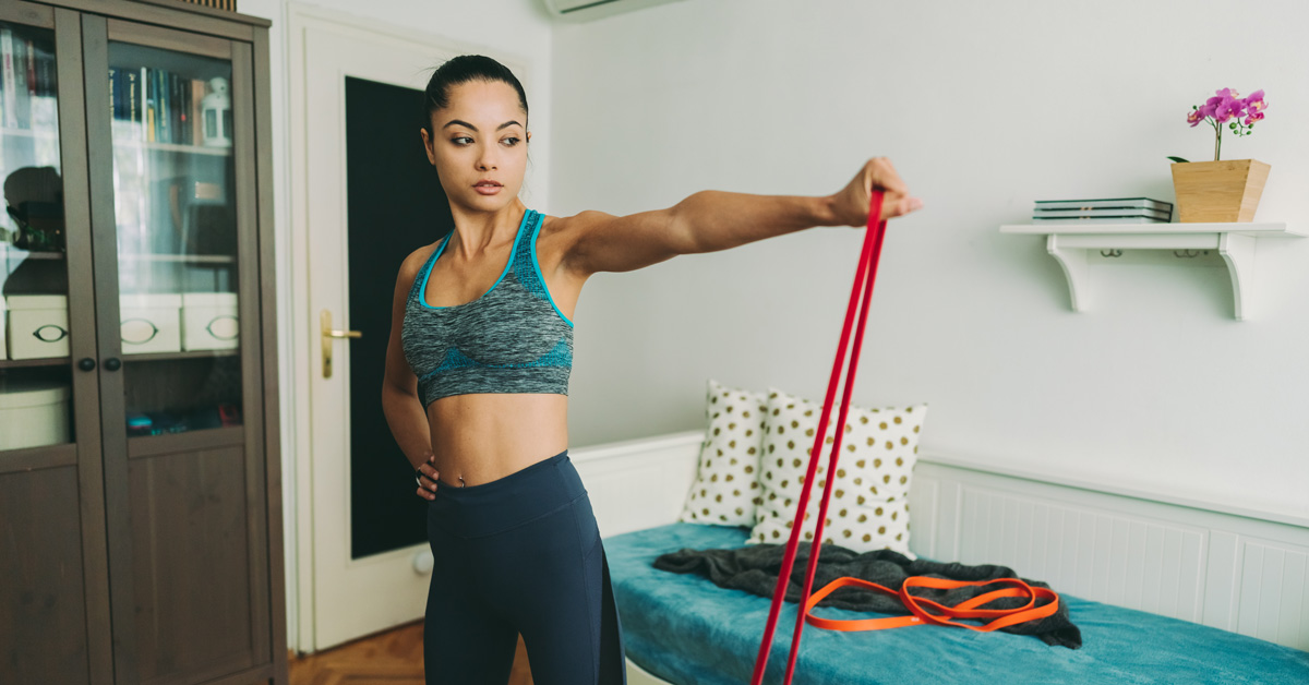 A Resistance Band Chest Workout You Can Do Anywhere