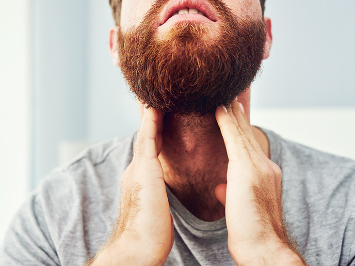 What causes a sore throat and swollen glands?